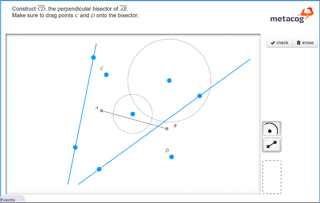 lines and points showing the bisector activity